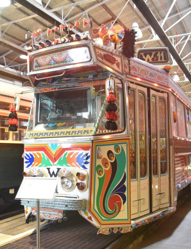 Yarra Trams' 1977, Z1 Class No. 81 'Karachi W11' tram is the first Z1 class tram built. It was decorated by Pakistani artisans in 2006 and ran on the City Circle route in Melbourne during the Melbourne Commonwealth Games that year.